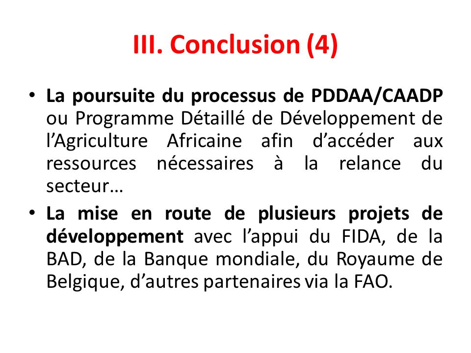 III. Conclusion (4)