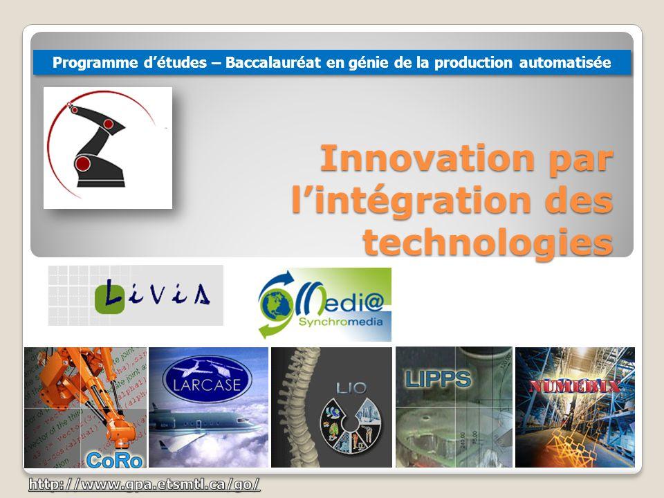 Innovation par l'intégration des technologies