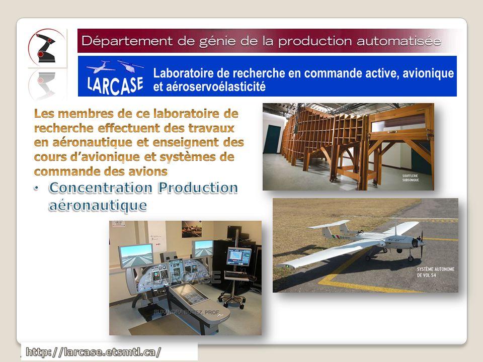 Concentration Production aéronautique