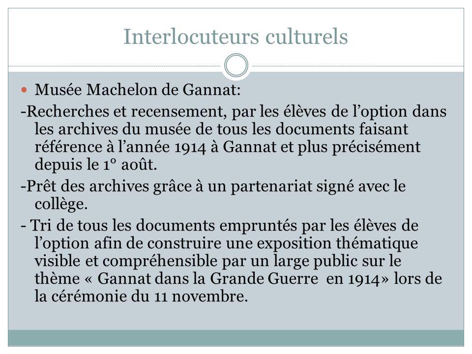 Interlocuteurs culturels