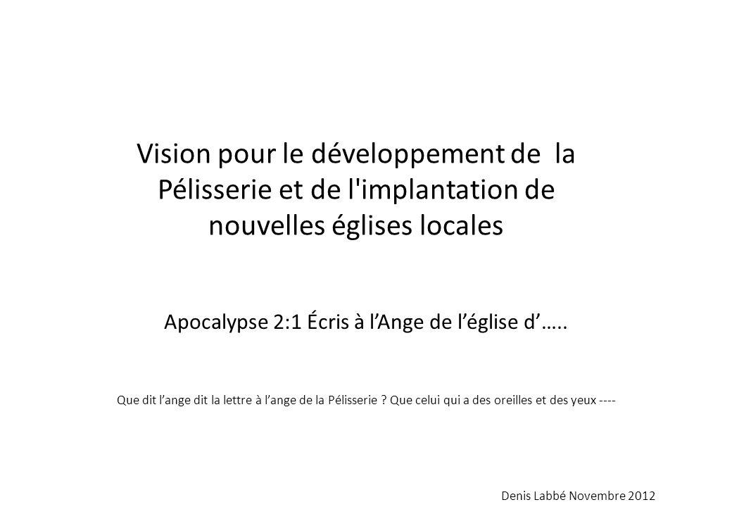 Apocalypse 2:1 Écris à l'Ange de l'église d'…..