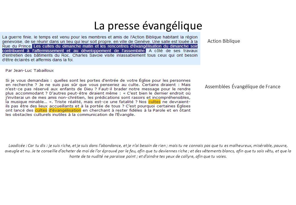 La presse évangélique Action Biblique Assemblées Évangélique de France