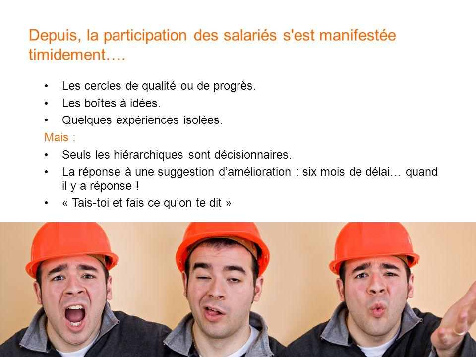 Depuis, la participation des salariés s est manifestée timidement….