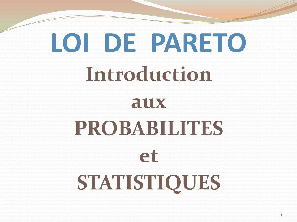Introduction aux PROBABILITES et STATISTIQUES