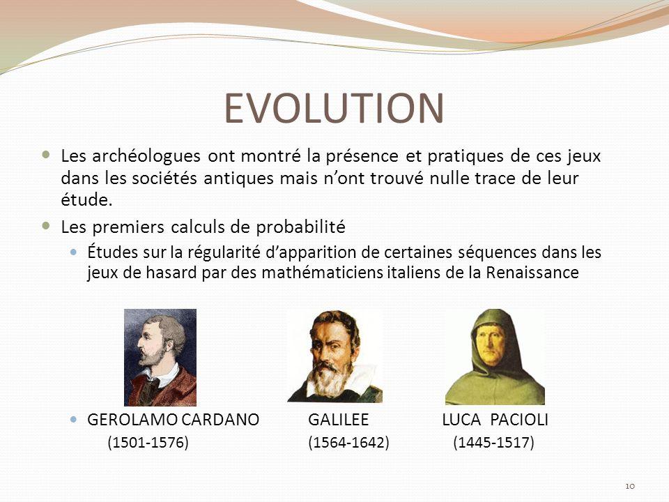 EVOLUTION Les archéologues ont montré la présence et pratiques de ces jeux dans les sociétés antiques mais n'ont trouvé nulle trace de leur étude.