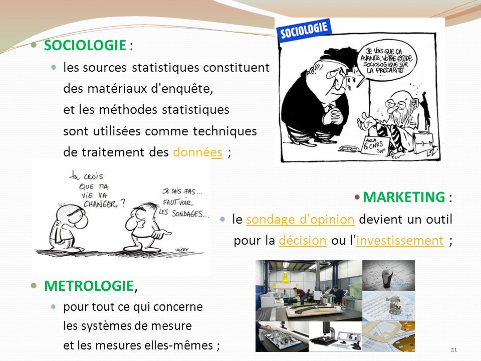 SOCIOLOGIE : MARKETING : METROLOGIE,