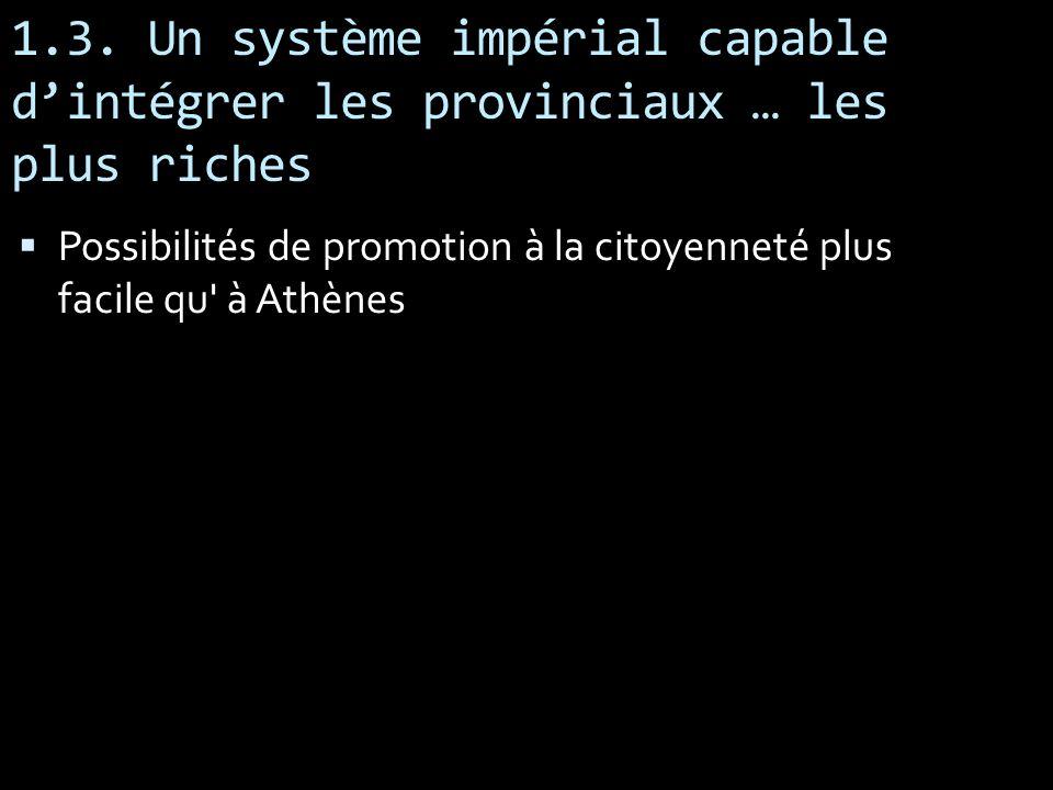 1.3. Un système impérial capable d'intégrer les provinciaux … les plus riches