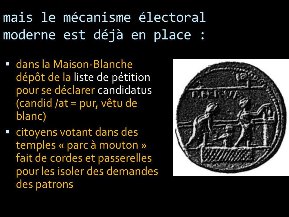 mais le mécanisme électoral moderne est déjà en place :