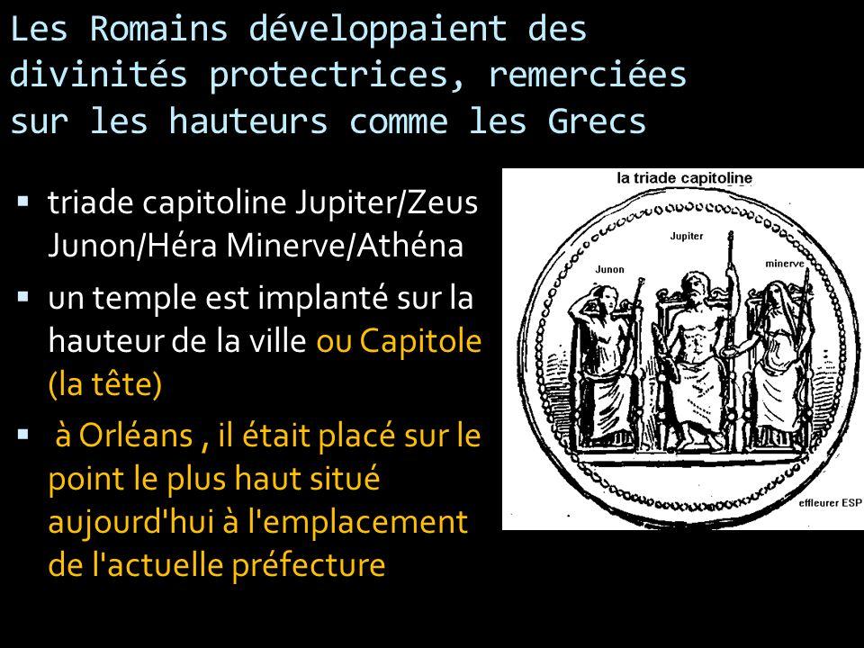 Les Romains développaient des divinités protectrices, remerciées sur les hauteurs comme les Grecs