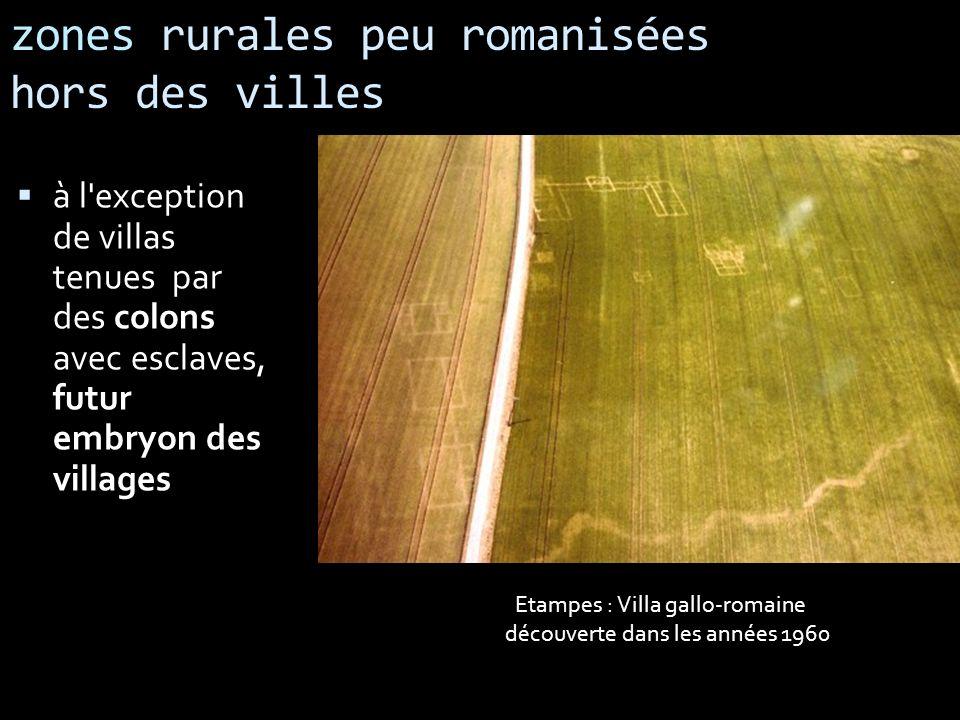 zones rurales peu romanisées hors des villes