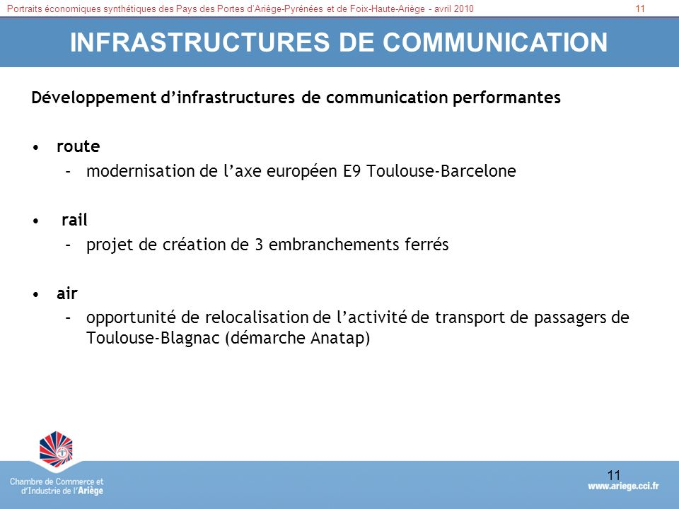 INFRASTRUCTURES DE COMMUNICATION
