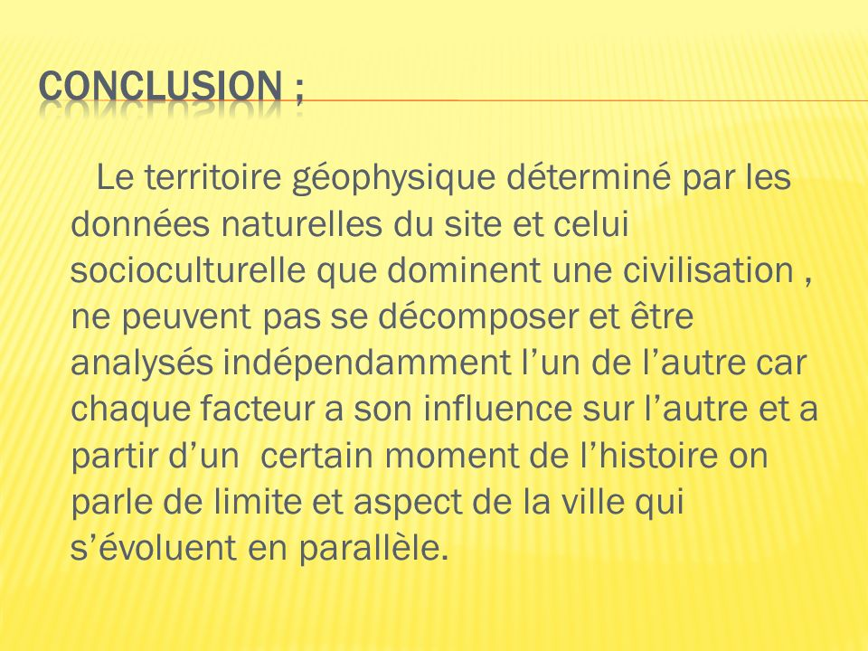 Conclusion ;