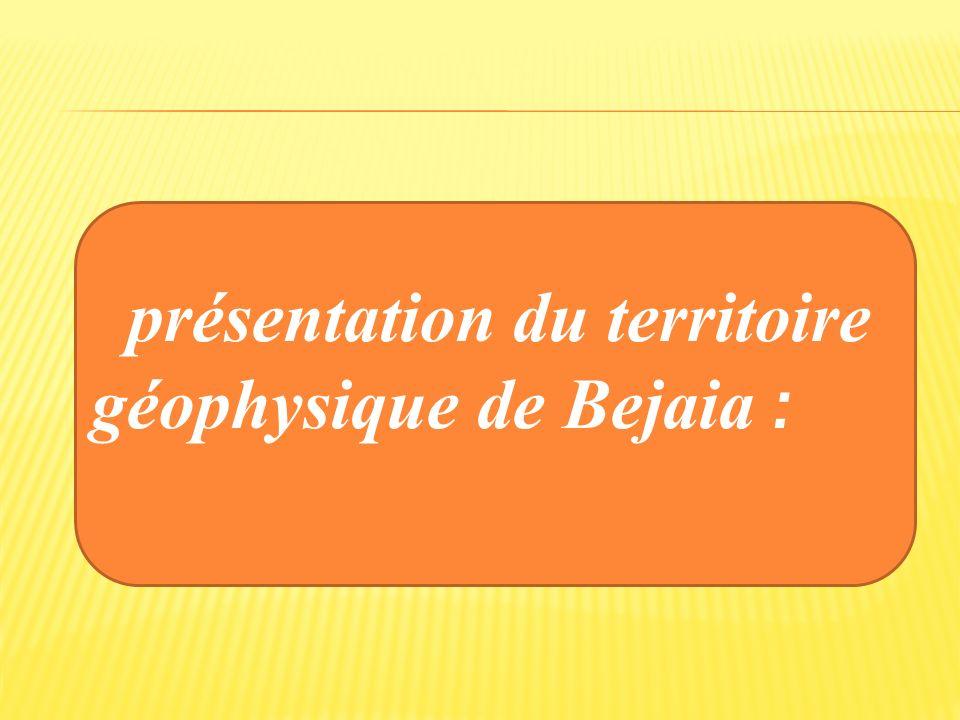 présentation du territoire géophysique de Bejaia :