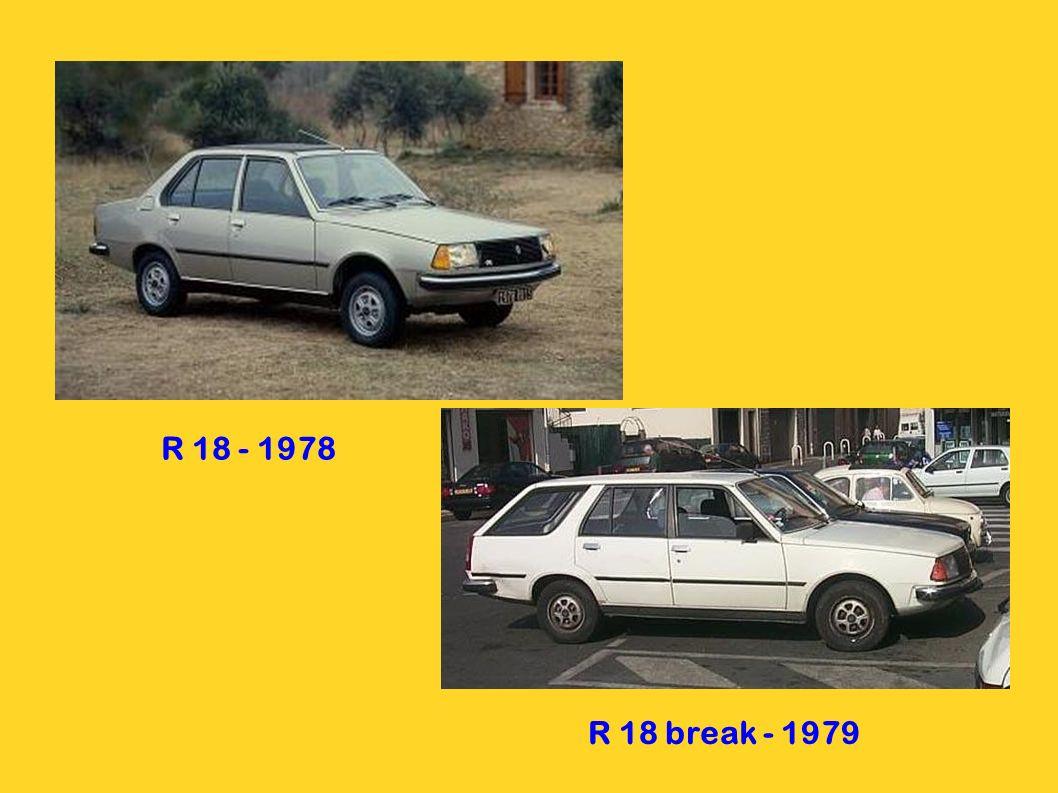 R 18 - 1978 R 18 break - 1979