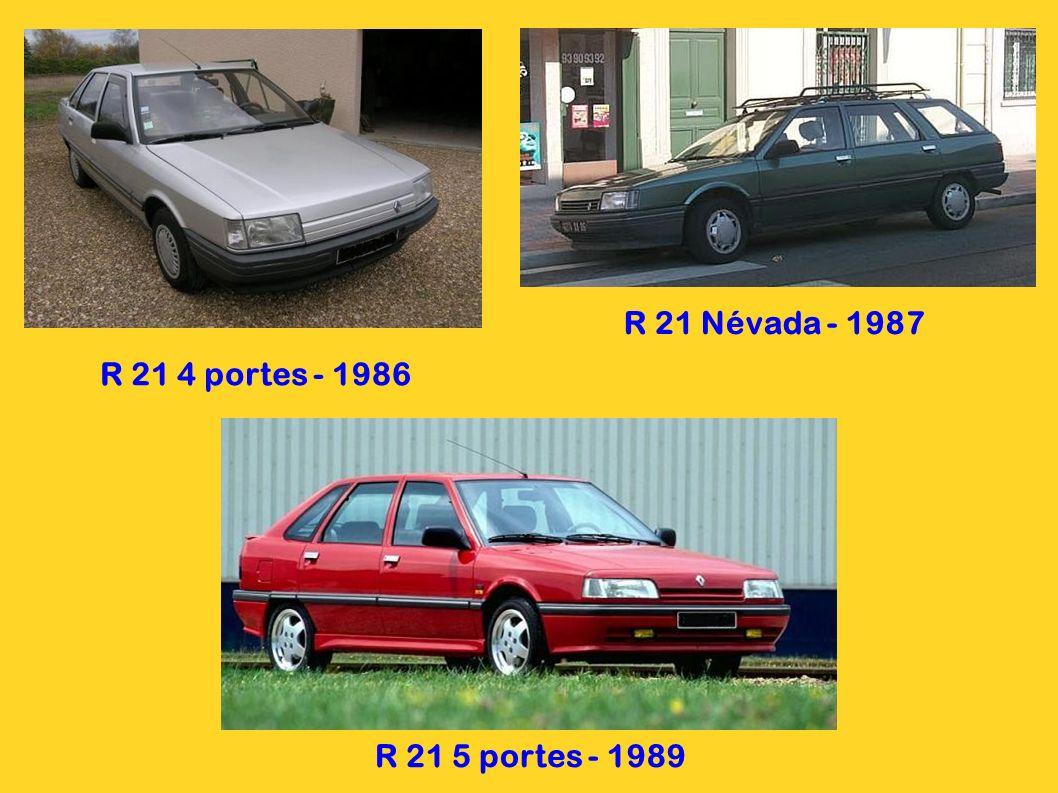 R 21 Névada - 1987 R 21 4 portes - 1986 R 21 5 portes - 1989