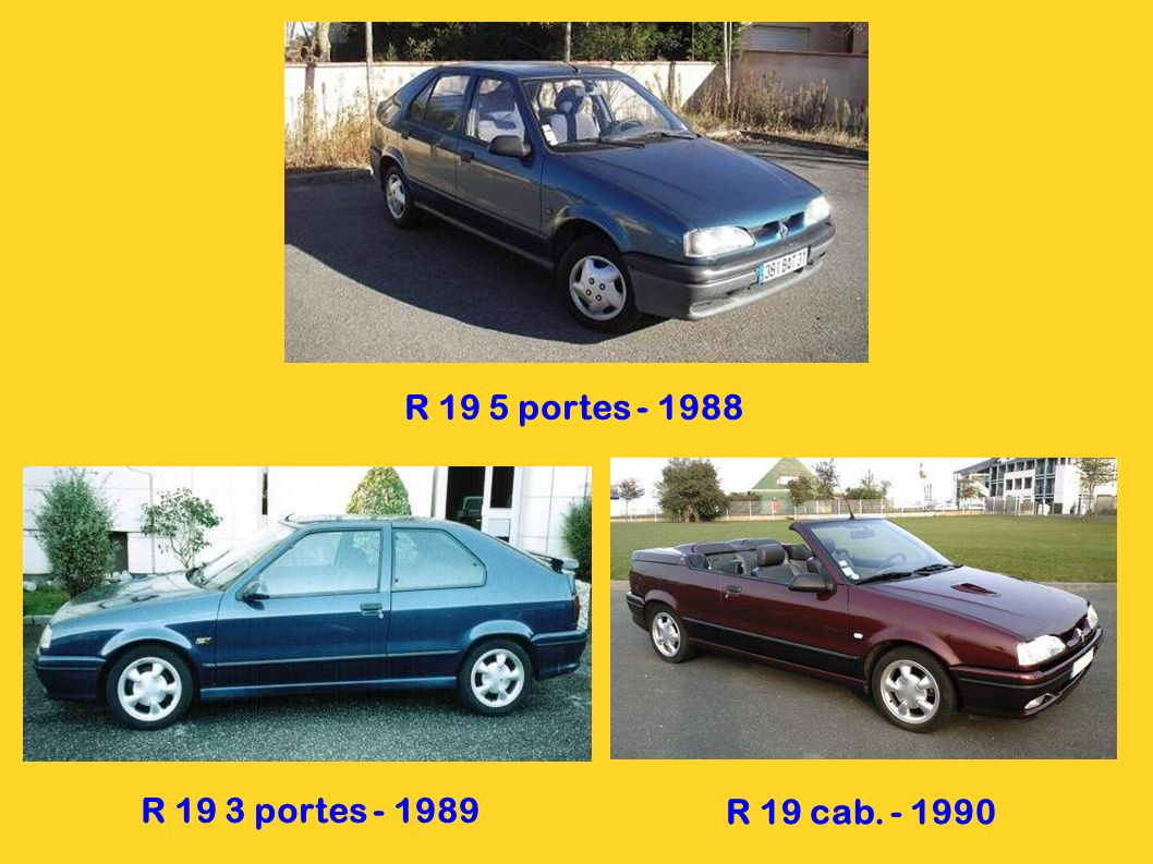 R 19 5 portes - 1988 R 19 3 portes - 1989 R 19 cab. - 1990
