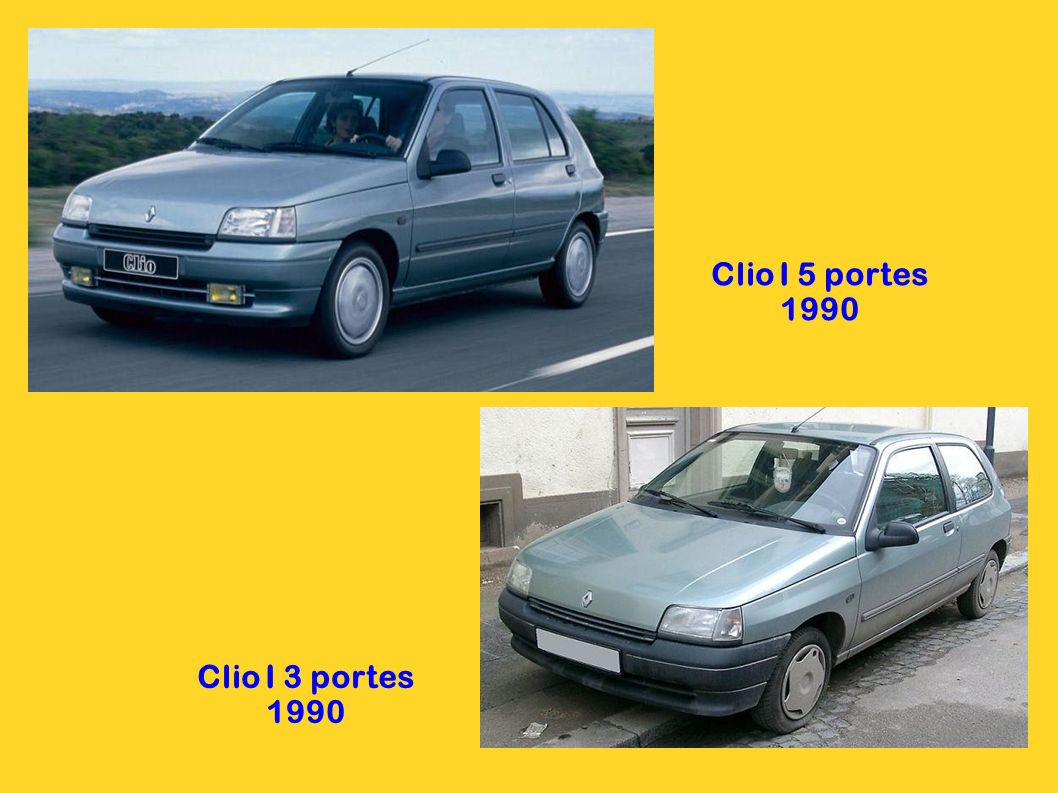 Clio I 5 portes 1990 Clio I 3 portes 1990