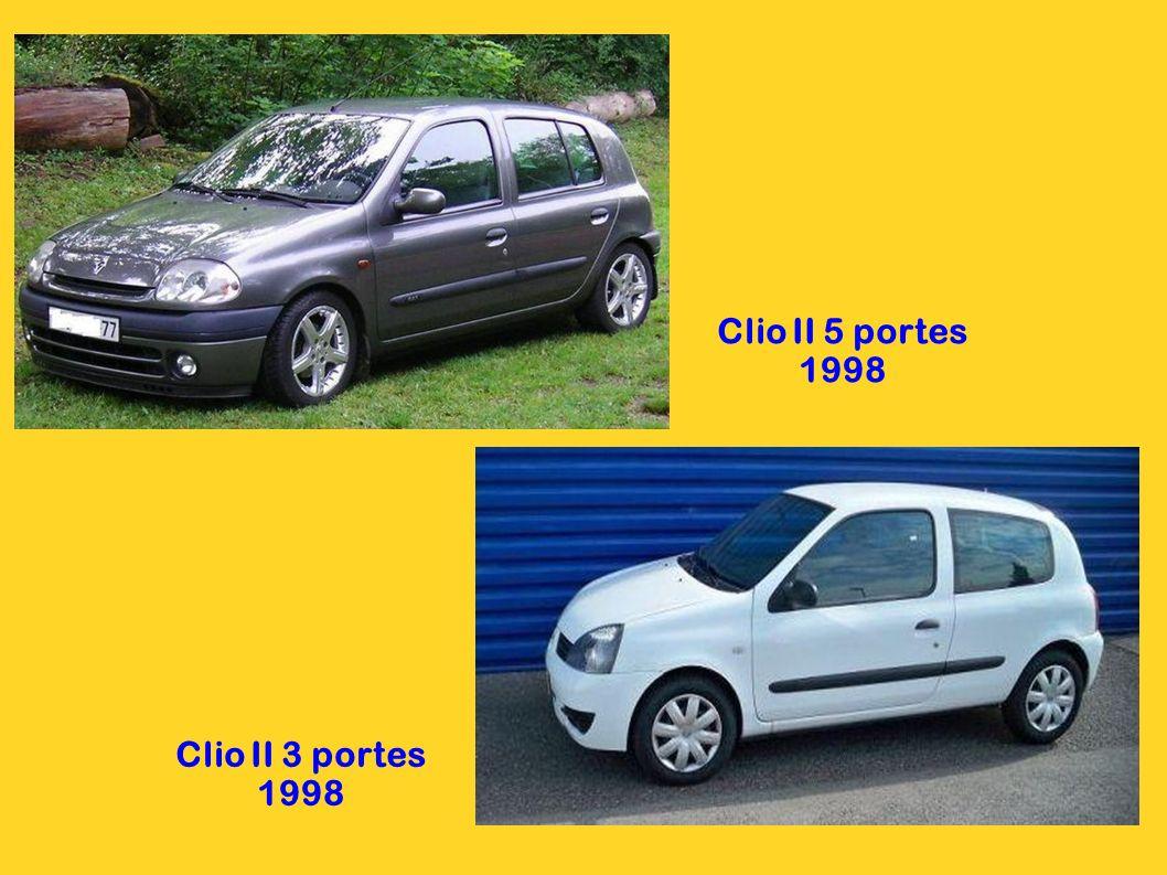 Clio II 5 portes 1998 Clio II 3 portes 1998