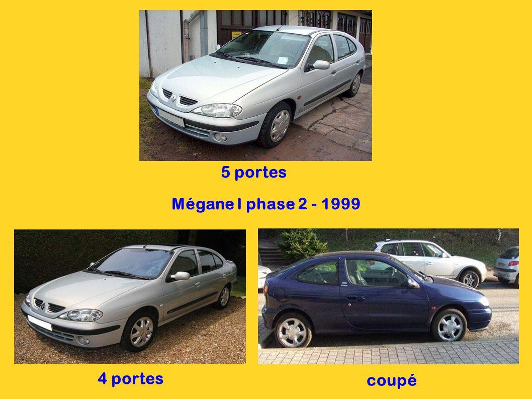 5 portes Mégane I phase 2 - 1999 4 portes coupé