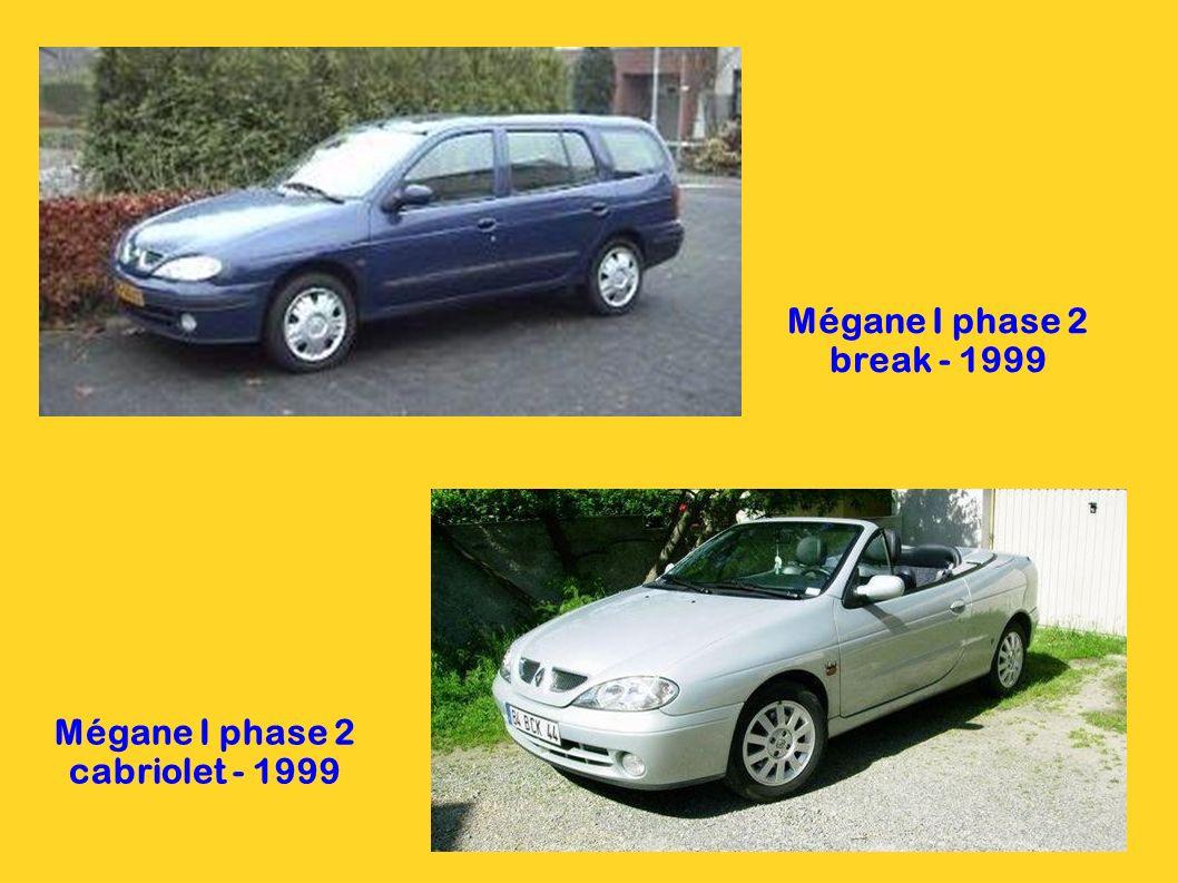 Mégane I phase 2 cabriolet - 1999