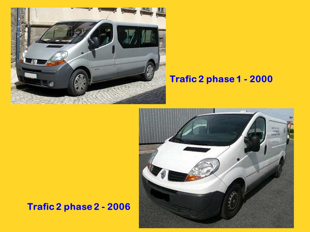Trafic 2 phase 1 - 2000 Trafic 2 phase 2 - 2006