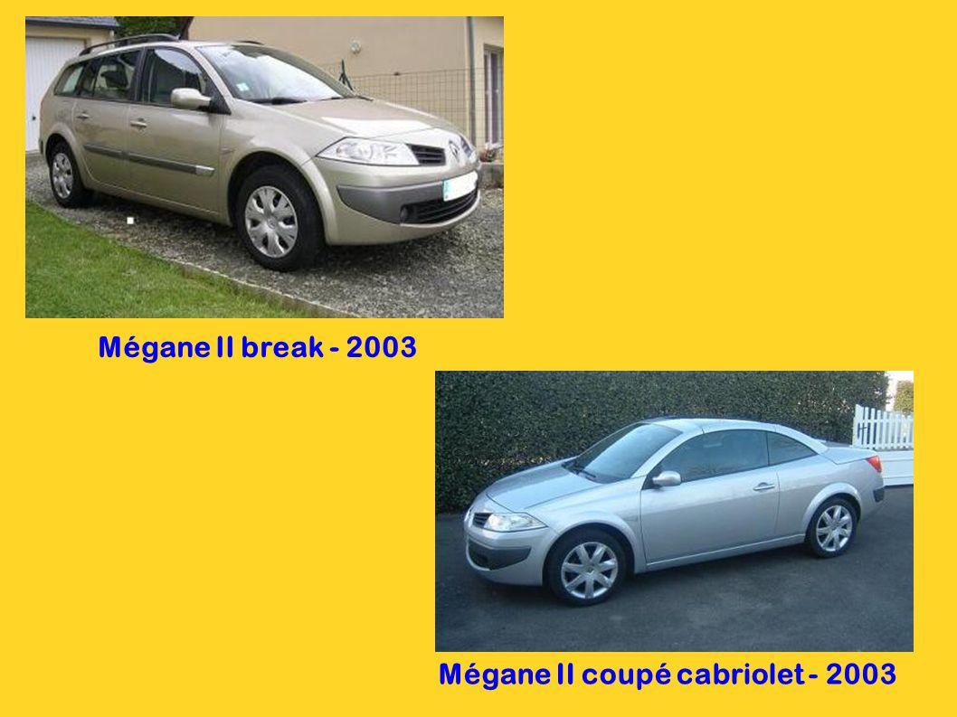 Mégane II coupé cabriolet - 2003