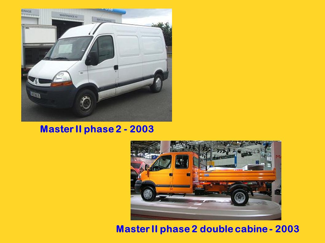 Master II phase 2 double cabine - 2003