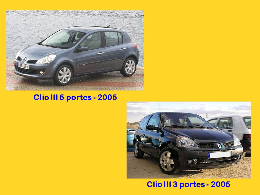 Clio III 5 portes - 2005 Clio III 3 portes - 2005