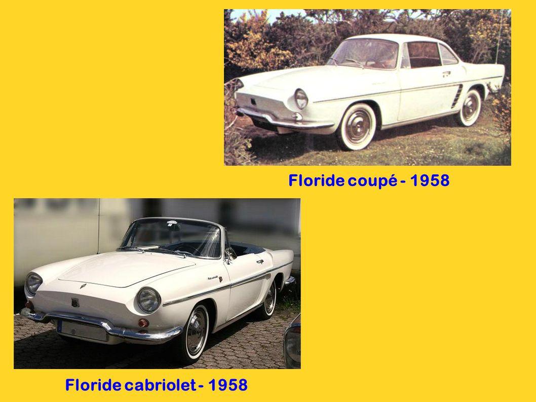 Floride coupé - 1958 Floride cabriolet - 1958