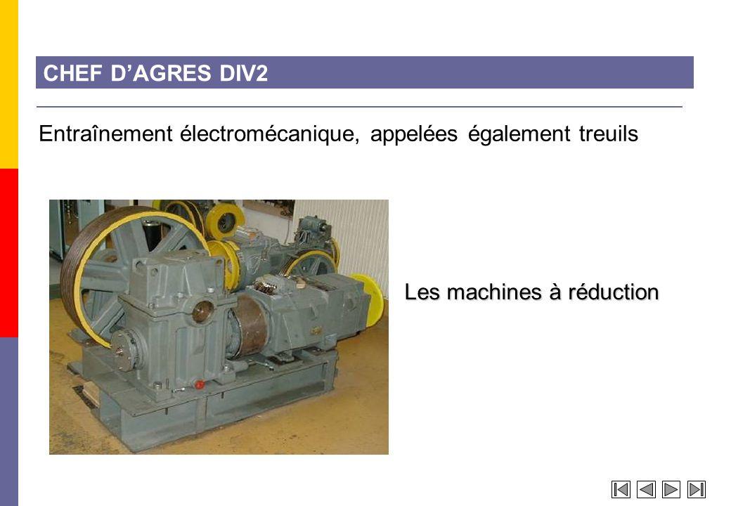 CHEF D'AGRES DIV2 Entraînement électromécanique, appelées également treuils.
