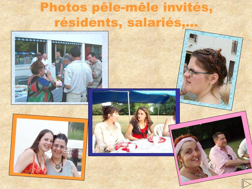 Photos pêle-mêle invités, résidents, salariés,…