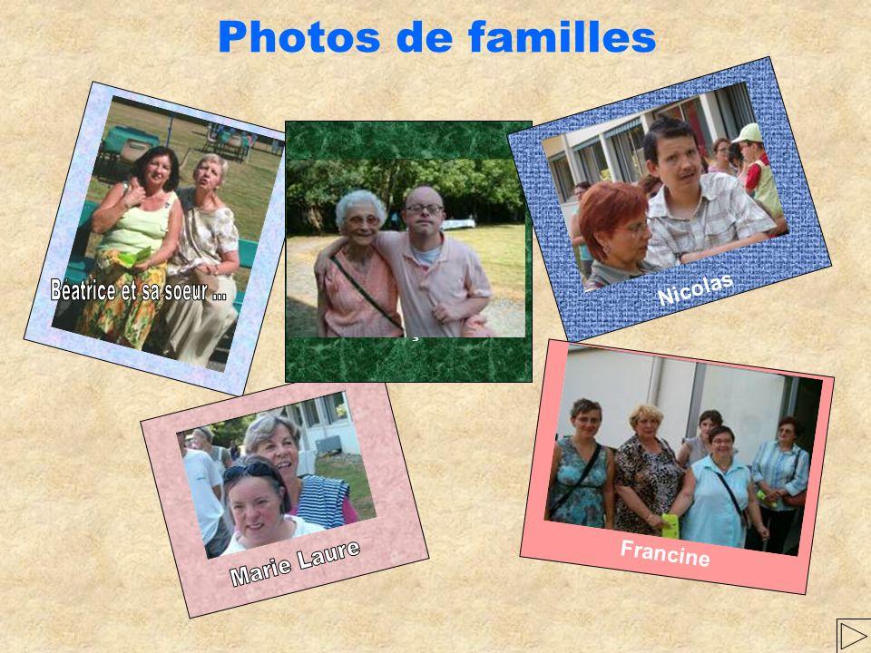 Photos de familles Béatrice et sa soeur ... Marie Laure Nicolas