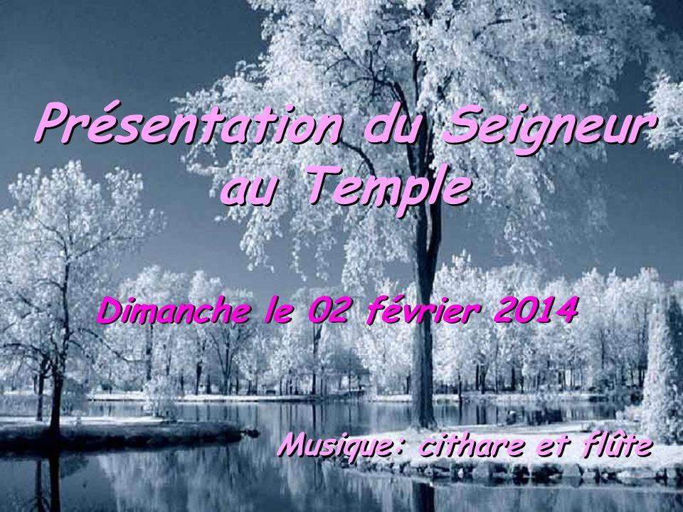 Présentation du Seigneur au Temple Musique: cithare et flûte