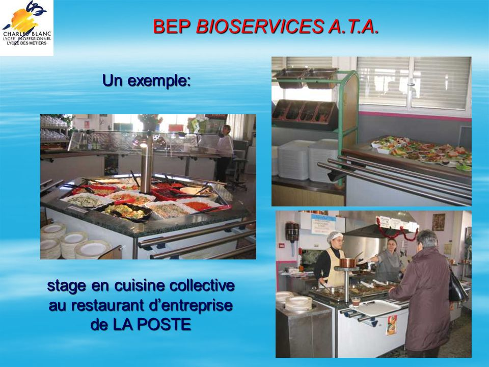 Lyc e professionnel charles blanc ppt video online for Travailler en cuisine collective