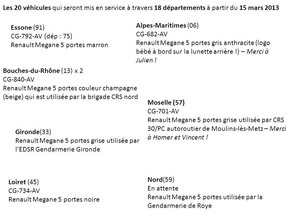 Les 20 véhicules qui seront mis en service à travers 18 départements à partir du 15 mars 2013