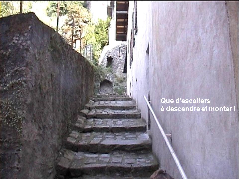 Que d'escaliers à descendre et monter !
