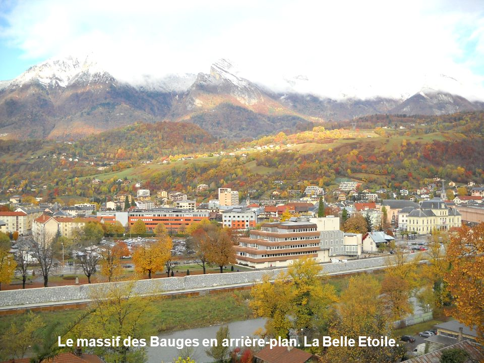 Le massif des Bauges en arrière-plan. La Belle Etoile.
