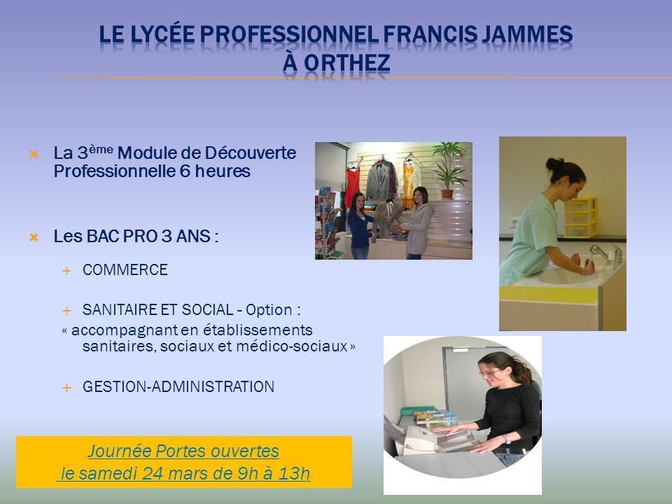 Le Lycée Professionnel FRANCIS JAMMES à ORTHEZ