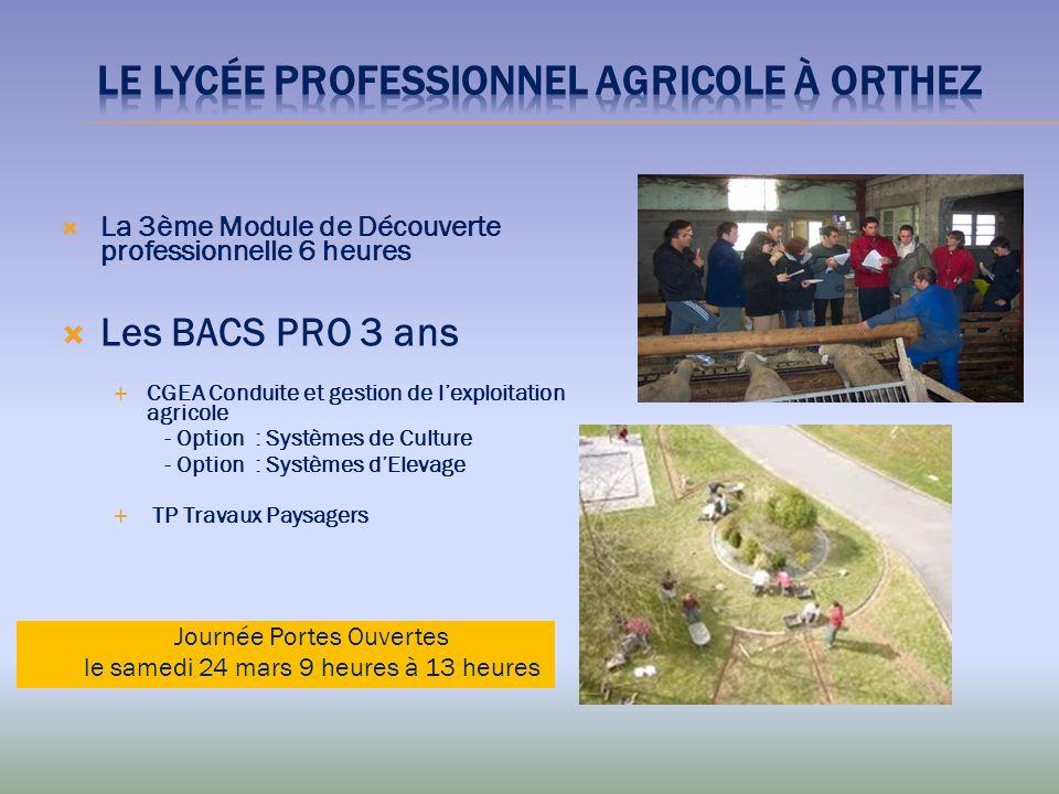 Le lycée Professionnel agricolE à ORTHEZ