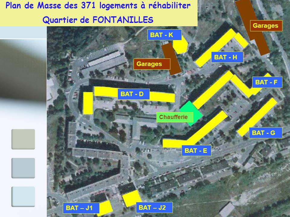 Plan de Masse des 371 logements à réhabiliter Quartier de FONTANILLES