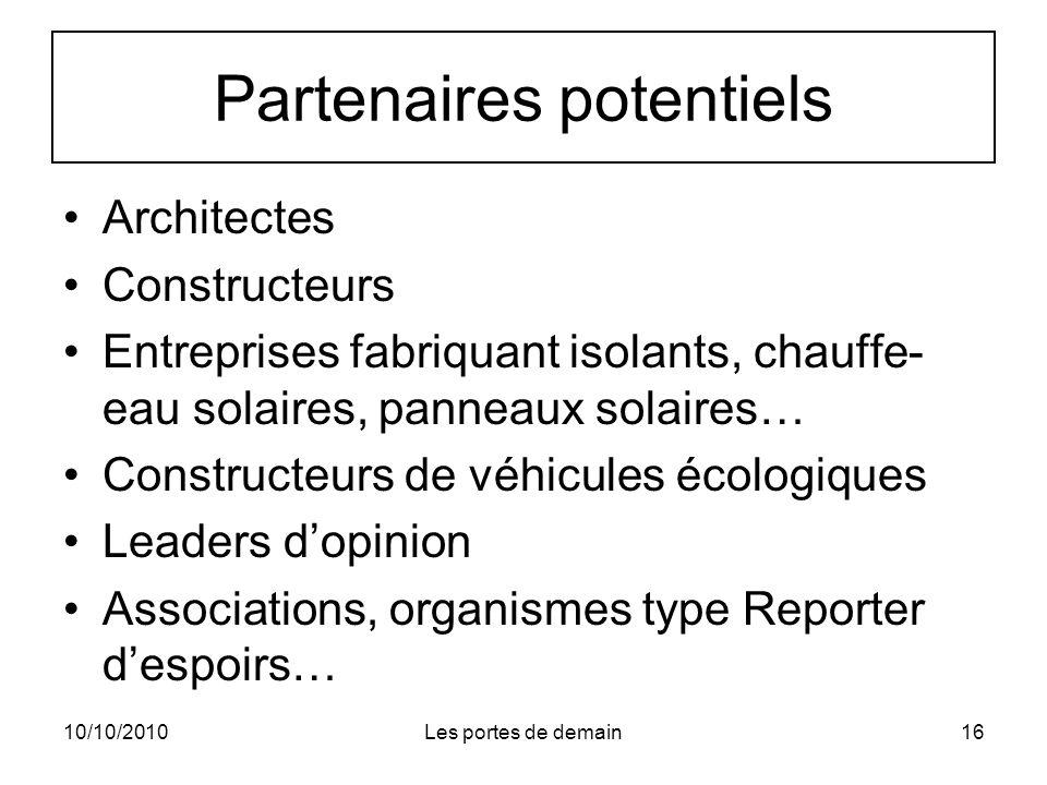 Partenaires potentiels