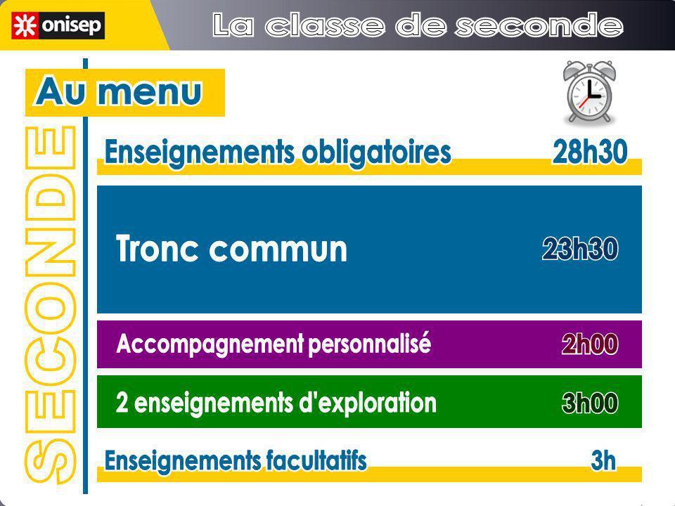 Enseignements obligatoires 28h30 Enseignements obligatoires 28h30