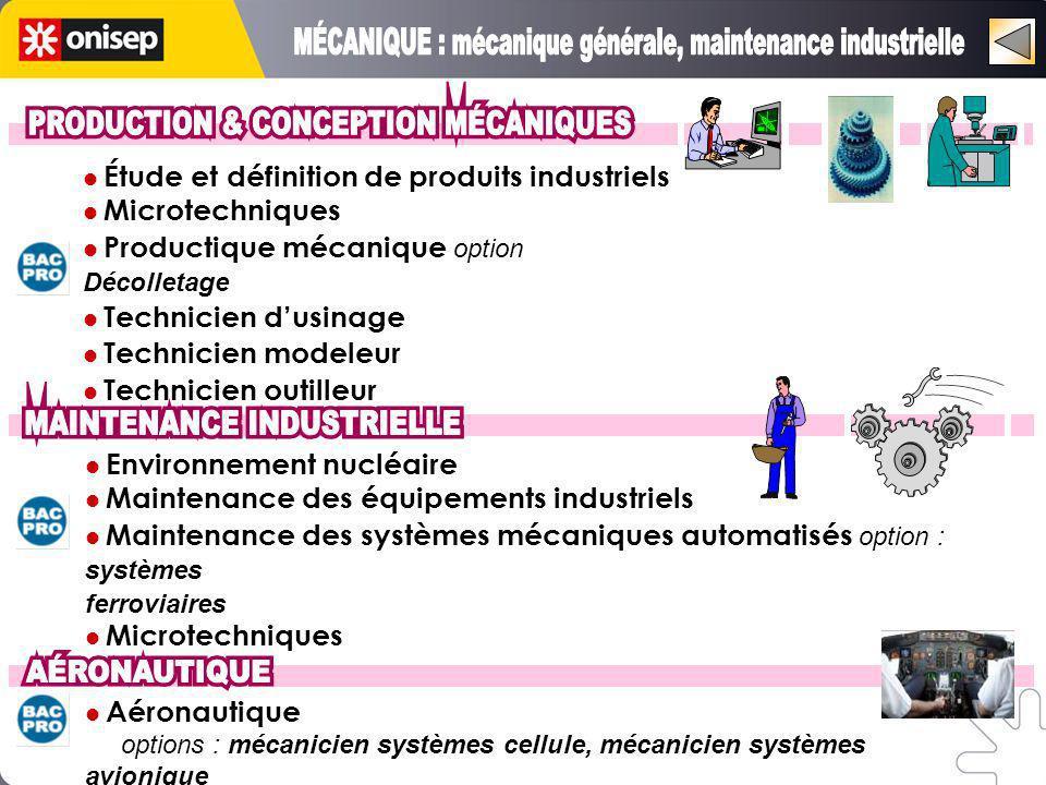 MÉCANIQUE : mécanique générale, maintenance industrielle