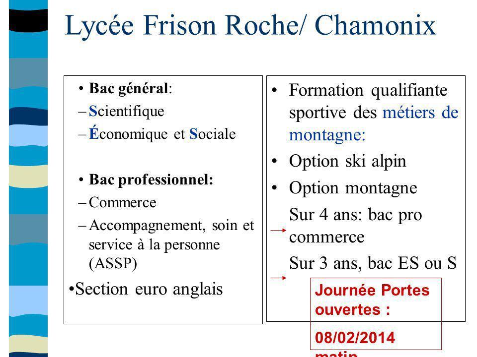 Lycée Frison Roche/ Chamonix