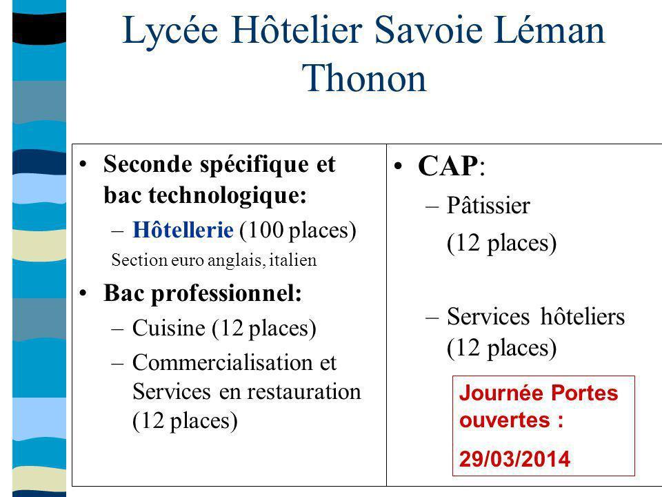 Lycée Hôtelier Savoie Léman Thonon