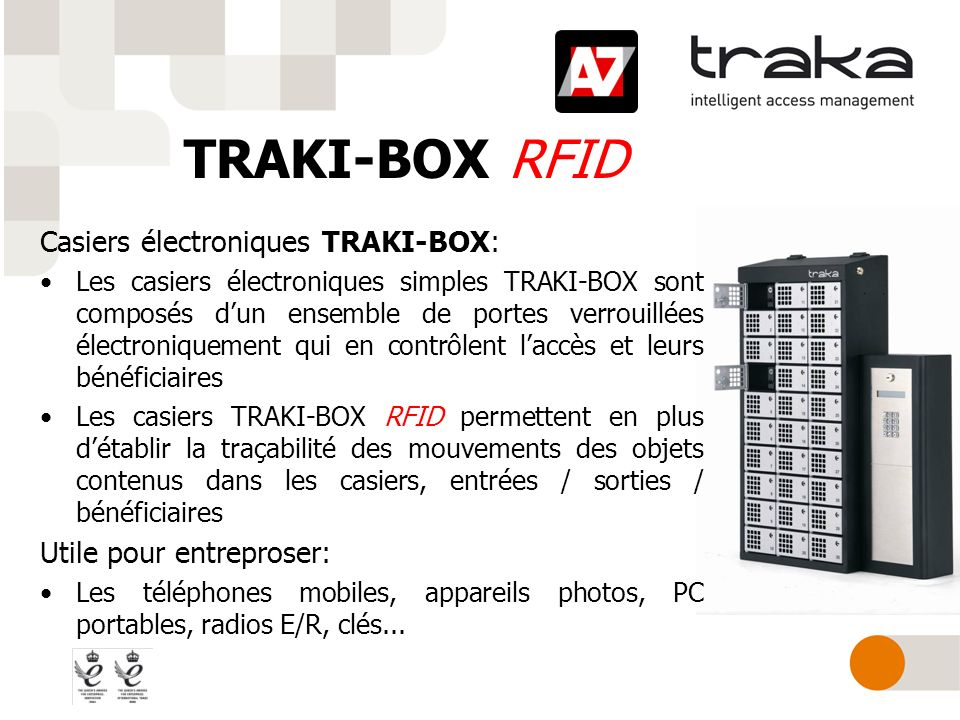 TRAKI-BOX RFID Casiers électroniques TRAKI-BOX: