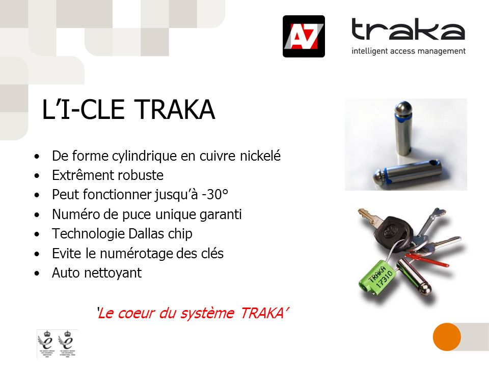 L'I-CLE TRAKA 'Le coeur du système TRAKA'