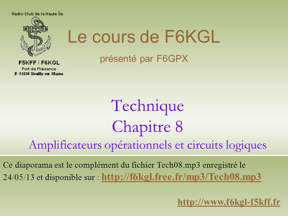 Technique Chapitre 8 Amplificateurs opérationnels et circuits logiques