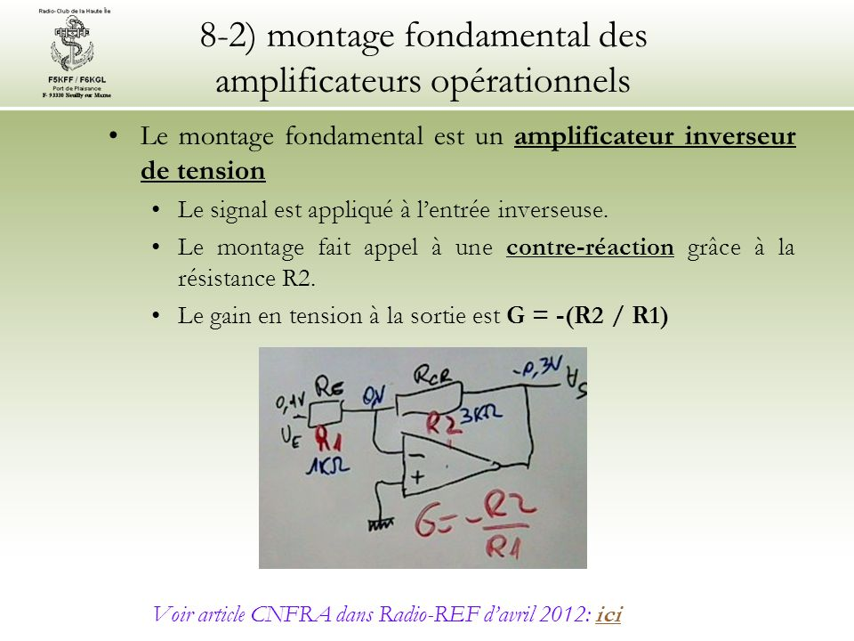 8-2) montage fondamental des amplificateurs opérationnels