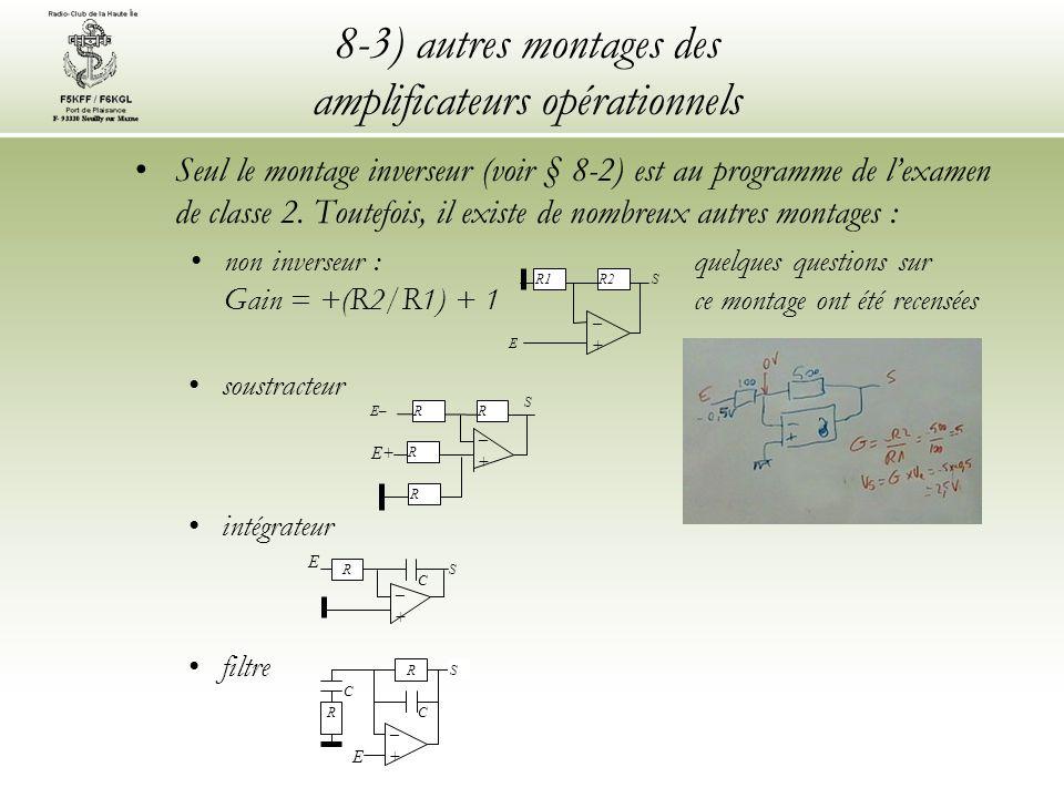 8-3) autres montages des amplificateurs opérationnels